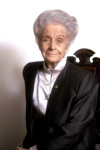 Italian scientist and Nobel laureate Rita Levi Montalcini